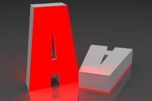 Объемная буква А
